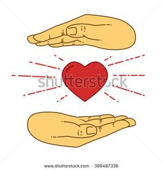 Vector flat style on background. Illustration of love. Hands over heart. Healthcare icon isolated. Health insurance and safety. Vector heart icon. Health and fitness. Health icon. Heart vector. Heart