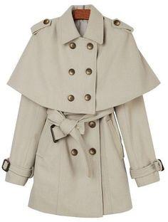 {removable shawl collar coat} very Sherlock :) LOVE THIS!