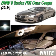 Master White LED Interior Lighting Kit for BMW 6 Series F06 Gran Coupe(2013+)+Free Trim Remove Tool - #coupe #interior #lighting #master #remove #series #white - #new Bmw White, Bmw 6 Series, Wish Shopping, Interior Lighting, How To Remove, Led, Cutaway, Indoor Lights