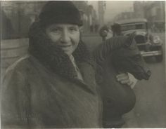 Gertrude Stein in Richmond, 1934        by Carl Van Vechten
