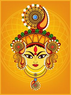 Together, she becomes a supreme power, an embodiment of Goddess Durga. Know what does goddess durga symbolize here in the article. Durga Maa Paintings, Durga Painting, Kerala Mural Painting, Indian Art Paintings, Madhubani Art, Madhubani Painting, Indian Folk Art, Durga Goddess, Krishna Art