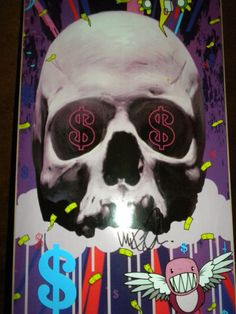 Neuphoria skateboard deck by Mike Shinoda Mike Shinoda, Skateboard Decks, Linkin Park, Joker, Graphic Design, Artist, Fictional Characters, Ideas, Skateboards
