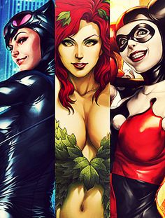 Cat women, poison ivy, & Harley - Triple Threat