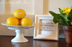Lemons would be a great theme for the spa party.
