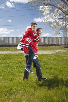 Andrew Shaw & Brandon Bollig...this is so cute lol