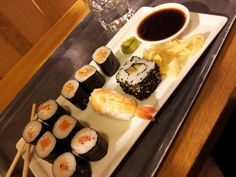 Sushi at Stockmann department store, Helsinki. My favourite lunch.