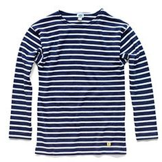 Armor Lux Striped Sailor Shirt (Navy)