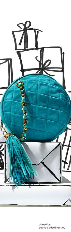 Rosamaria G Frangini    Clutches   Chanel Turquoise