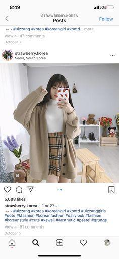 Daily Look, Korean Girl, Ulzzang, Korean Fashion, Plaid, Winter, K Fashion, Winter Time, Korea Fashion