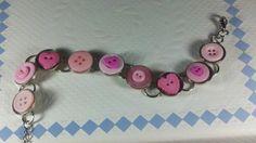 ready to ship valentine bracelet by tonilovesbuttons on Etsy, $15.00