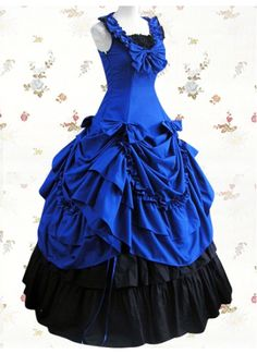 Classic Cotton Square Empire Bow Floor-length Lolita Dress With Ruffles
