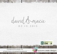 © design, wording & photos are copyright autumns creek 11.26.2014    ♡ item ♡  [david and macie] -pretty modern handwritten font with an ampersand.
