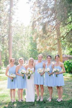 Baby blue bridesmaid dresses: http://www.stylemepretty.com/little-black-book-blog/2014/11/20/al-fresco-california-wedding-at-empire-mine-state-park/   Photography: Mirelle Carmichael - http://www.mirellecarmichael.com/