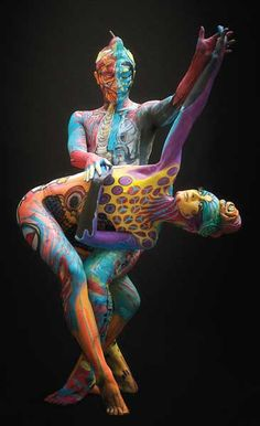 #Bodypainting artist Agnieszka Glinska; Photographer Andrea Peria, featured in The Human Canvas ^ch