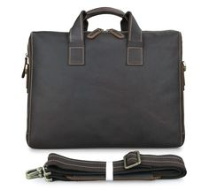 110.94$  Buy here - http://ali110.worldwells.pw/go.php?t=32379601291 - 100% Real Leather Freeship Men Briefcases Messenger Bag Laptop Bags # 7167R