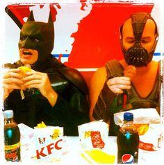 Batman and Bane at KFC