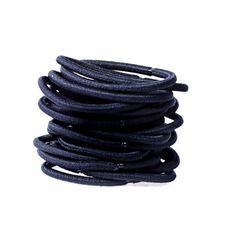 18 Pack Non-Metal Black Hair Elastics Black Hair Elastics, Hair Bobbles, Hair Jewelry, Hair Ties, Hair Beauty, Hair Accessories, Shoe Bag, Leather, Metal Hair