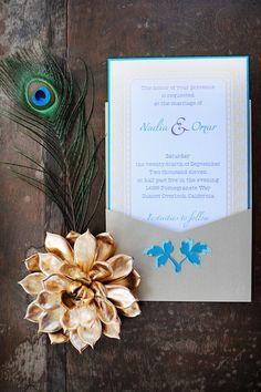 weddbook  -Turquoise wedding invitation