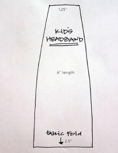 DIY Headbands template measurements