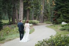 bride and groom in the woods sequoia national park wedding