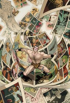 frank quitely's cover for flex mentallo: man of muscle mystery deluxe edition