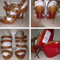 New Christian Louboutins Funky 38 1/2 New!! Will fit 7-7 1/2 perfect.. WILL NOT FIT SIZE 8. Comes with dustbag no box. TRADE VALUE MORE Christian Louboutin Shoes Heels