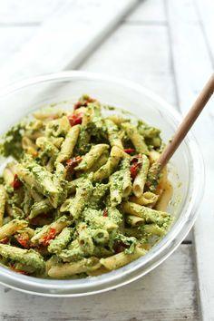 easy-pesto-penne-pasta-salad-vegan-glutenfree-pasta-recipe