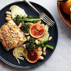 Broiled Cod With Fennel and Orange