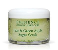 Eminence Pear and Green Apple Sugar Scrub, 8.4 Ounce by Eminence Organic Skin Care. $35.28. With Eminence Pear & Green Apple Sugar Scrub you can slice off all impurities from your skin as you infuse it with nourishing and calming antioxidants like Green Tea, Grape Seed Oil, and Pear. 100% naturally organic. Softens and hydrates skin. Eminence Organics Pear & Green Apple Sugar Scrub(8.4 oz./250 ml)Benefits For all skin types This body scrub is designed to release toxi...