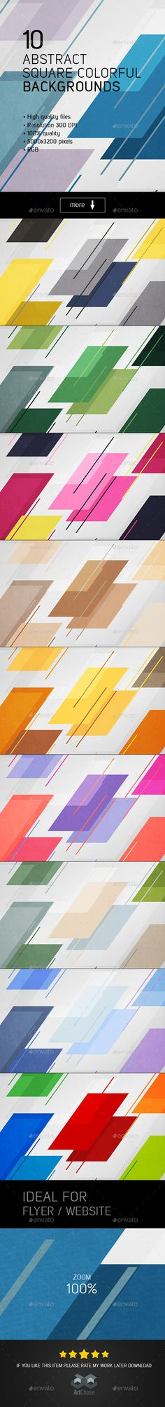 Abstract Square Colorful Backgrounds