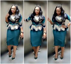My Bunmi Lace Dress Styles, Latest African Fashion Dresses, Two Piece Dress, Office Outfits, Skirt Suit, Ladies Boutique, Designer Dresses, Leather Skirt, High Waisted Skirt