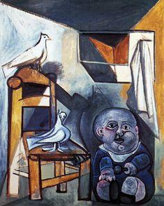 Picasso: L'enfant aux colombes (1943)