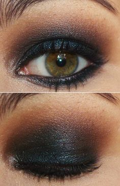 Dark Black and Brown Eyeshadow