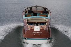 """Lamborghini is refinement, luxury and perfection. "" - Ferruccio Lamborghini.  1968, One-Off Lamborghini Riva Aquarama hull number 278, formerly own by Ferruccio Lamborghini"