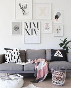 Cinza & Rosa #love #decor #decoração #sala #organizesemfrescuras #inspiration