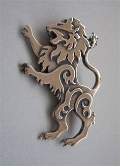 Lion Brooch or Pendant in Bronze by MasterArks on Etsy, $49.00
