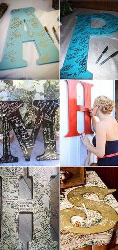 10 DIY Unique Guest Book Ideas for Weddings DIY letter guest book ideas for weddings