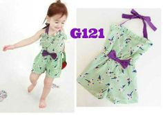 Overall green ribbon (G121) || size 80-120 || IDR 79.000