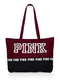 Victoria's Secret PINK CAMPUS BACKPACK BOOKBAG TOTE Black/White ...