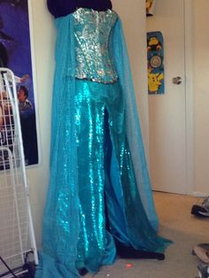 Elsa Frozen Disney Princess Cosplay Dress Progress by mch2020moehunt