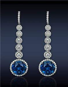 Sapphire Drop Earrings l Jacob and Co