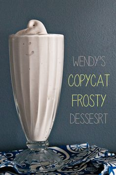 Wendy's Copycat Chocolate Frosty #Recipe for your ice cream maker