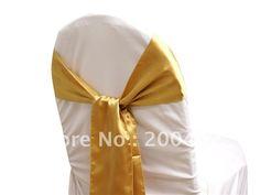 gold  satin  chair sash/chair sash/chair bow