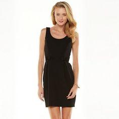 LC Lauren Conrad Bow Textured Pleated Dress - Women's