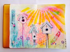 A little journal spread that I made often use in my course as reverence. #artjournaling