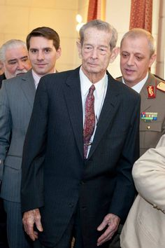 King Michael of Romania and his grandson, Prince Nicholas of Romania - (during an event that celebrates his birthday and name day) Romanian Flag, Romanian Royal Family, King Michael Romania, Bourbon, Central And Eastern Europe, Princess Anne, George Vi, Ferdinand, Reign