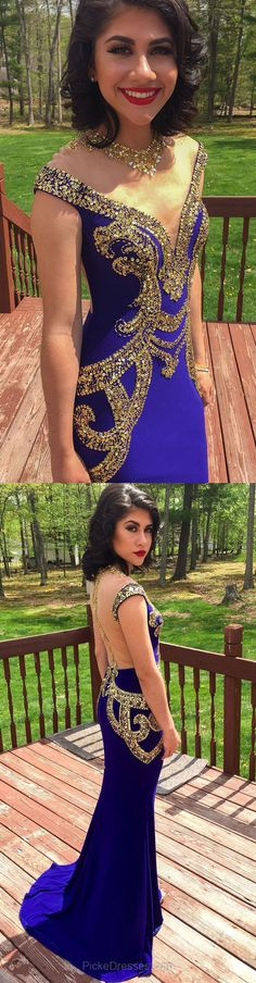 Royal Blue Mermaid Scoop Neck Sweep Train Tulle Silk-like Satin With Sequins Sheer Back Prom Dresses,Long Floor-Length Evening Dresses,Prom Dresses Junior Prom Dresses, Best Prom Dresses, Prom Dresses For Teens, Long Prom Gowns, Prom Dresses Online, Ball Dresses, Evening Dresses, Pageant Dresses, Maxi Dresses