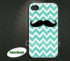 Mustache Chevron Iphone 4 Case Cover iPhone 4s Case by CaseHeaven, $8.99