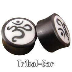 Tribal Ear Om Plug Horn Piercing Oreille Plugs Corne Organic Flesh Tunnels
