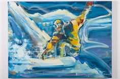 Snowboarding Painting Art And Jakes, Snowboarding, Skiing, Gcse Art, Wall Murals, Oil, Inspired, Sports, Painting